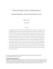 Technical Change as Factors' Shifting Impacts: Harrod Neutrality ...