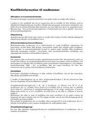 konfliktvejledning - Teknisk Landsforbund