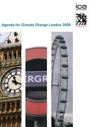 Agenda for Climate Change London 2008 - Near You - Institution of ...