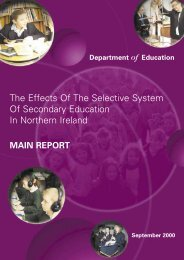 The Effects Of The Selective System Of Secondary Education - CAIN ...