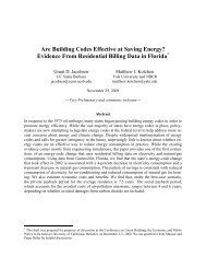Are Building Codes Effective at Saving Energy? - Berkeley Program ...