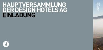 Wesensmerkmale der unternehmensformen for Design hotels ag