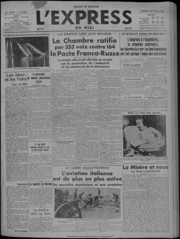 28 février 1936 - Bibliothèque de Toulouse