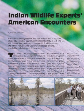 Indian Wildlife Experts' American Encounters