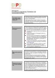 Retningslinjer Forvaltning og rapportering i forbindelse med ...