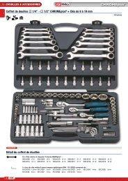 30 pièces 918.0830 KS /_ tools 1//2 CHROMEplus ® clé à douille-jeu