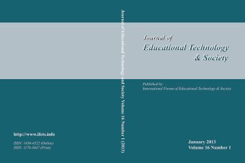 Download Complete Issue in PDF - Educational Technology & Society