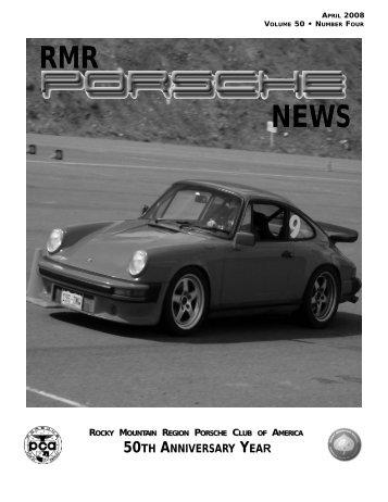 rmr april 2008.qxd - Rocky Mountain Region Porsche Club ...
