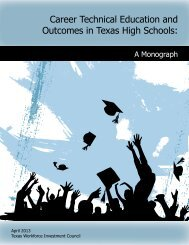 Career Technical Education and Outcomes in Texas High Schools: