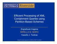 Efficient Processing of XML Containment Queries using ... - UFMG