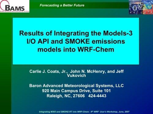 Baron Advanced Meteorological Systems, LLC - MMM