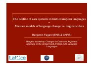 The decline of case systems in Indo-European languages ? Abstract ...