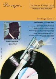 Le Forum d´Vinyl Ausgabe Dezember 2012 - Da capo