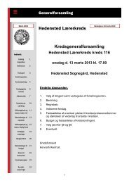 Generalforsamlingsblad 2013 - Hedensted Lærerkreds
