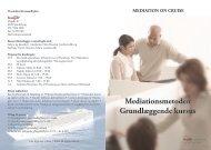 Mediationsmetoden Grundlæggende kursus - SeaDane
