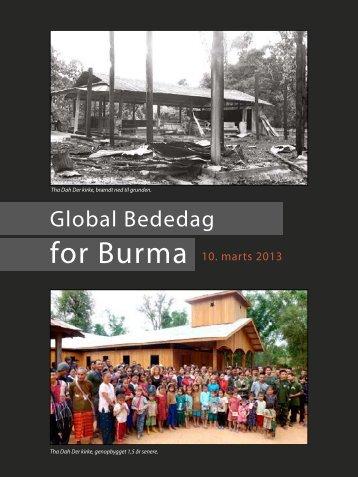 Global Bededag - Christians Concerned for Burma