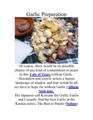 Garlic Preparation - The Geriatric Gourmet