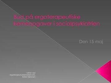 Bud på ergoterapeutiske kerneopgaver i