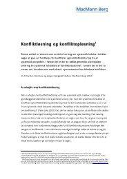 Konfliktløsning og konfliktopløsning - MacMann Berg