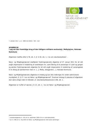 NMK-522-00031 - Natur- og Miljøklagenævnet