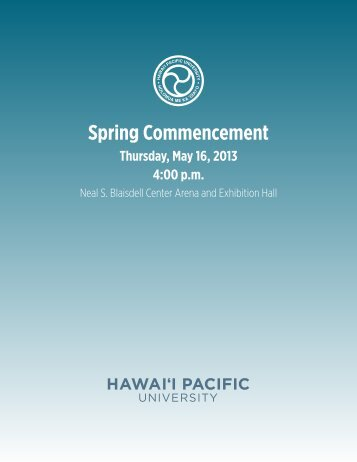 Spring Commencement - Hawaii Pacific University
