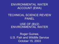 Roger Guinee - CALFED Science Program