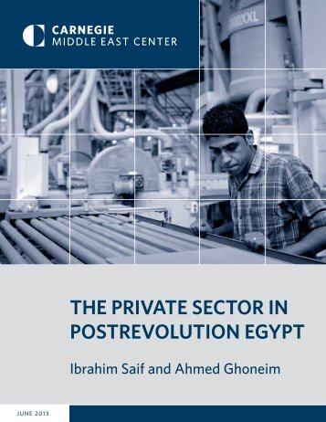 The PRivaTe SecToR in PoSTRevoluTion egyPT - Carnegie ...