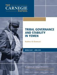 Tribal Governance and Stability in Yemen - Carnegie Endowment ...