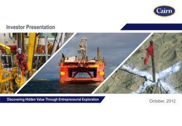 Investor Presentation - No 0il Canarias