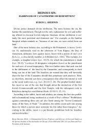 HEINOUS SIN: - Jewish Bible Quarterly