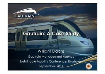 Gautrain: A Case Study - Alive2green