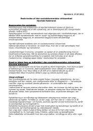 Beskrivelse af den socialøkonomiske virksomhed Hjortdal Købmand ...