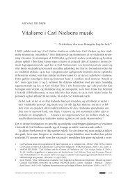 Vitalisme i Carl Nielsens musik - dansk musikforskning online