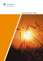 Annual Report 2006 963 kB / pdf - Nordic Energy Research