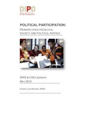 political participation - Danish Institute for Parties and Democracy