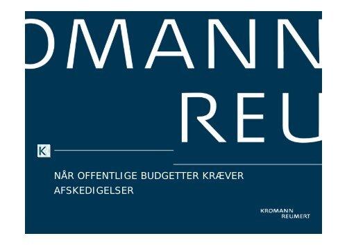 når offentlige budgetter kræver afskedigelser - Kromann Reumert