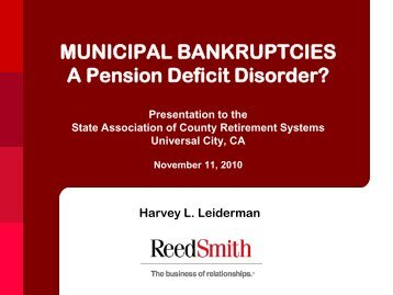 Municipal Bankruptcy - SACRS