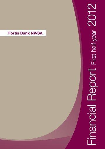 Financial Report First half year 2012 - BNP Paribas
