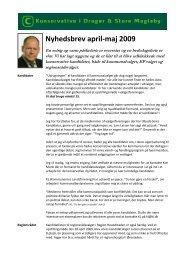 Nyhedsbrev april-maj 2009 - Konservative Folkeparti