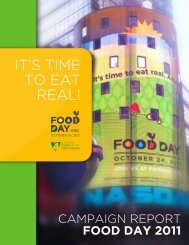 2011 report - Food Day