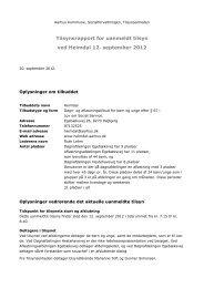 Uanmeldt tilsyn Heimdal 12. september 2012 - Aarhus.dk