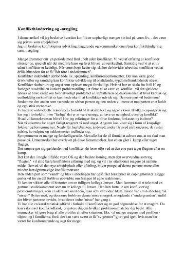 [pdf] Konflikthåndtering og -mægling