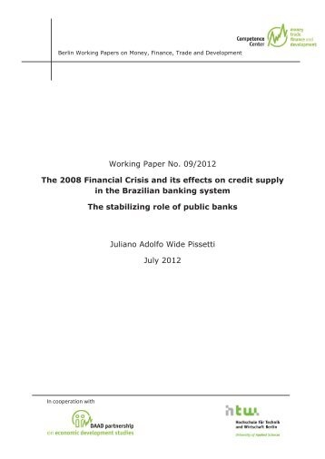 Institute of economic research working paper series
