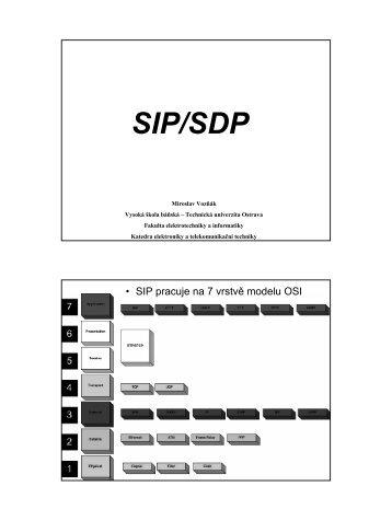 SIP/SDP - HomeL - Vysoká škola báňská - Technická univerzita ...