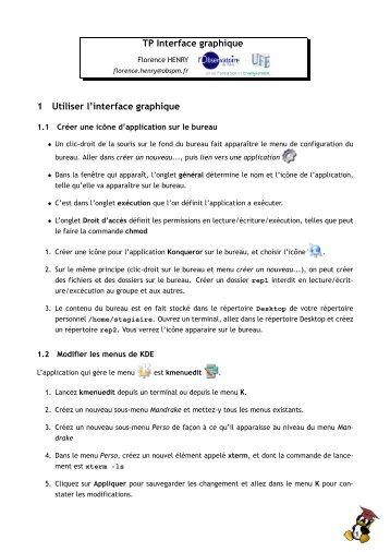 TP Interface graphique 1 Utiliser l'interface graphique
