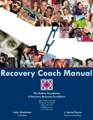 Recovery Coach Manual - McShin Foundation