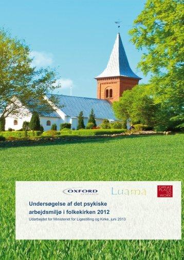 Undersøgelse af det psykiske arbejdsmiljø i folkekirken 2012