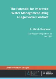 The potential for improved water management using a legal social ...