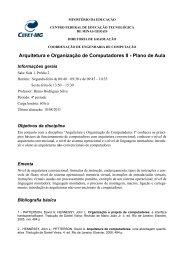 Arquitetura e Organização de Computadores II - Plano de ... - UFMG