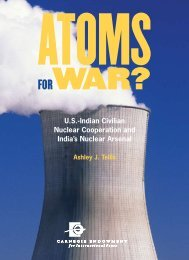 U.S.-Indian Civilian Nuclear Cooperation and India's Nuclear Arsenal